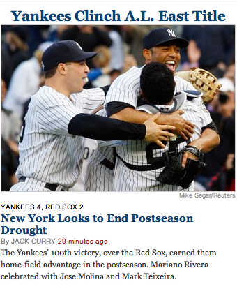 NYT headline writers exude the sense of understatement for which their fellow New Yorkers are renowned